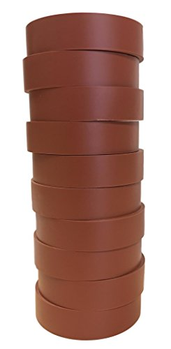 TradeGear Electrical Tape BROWN MATTE - 10 Pk Waterproof, Flame Retardant, Strong Rubber Based Adhesive, UL Listed - Rated for Max. 600V and 80oC Use - Measures 60' x 3/4