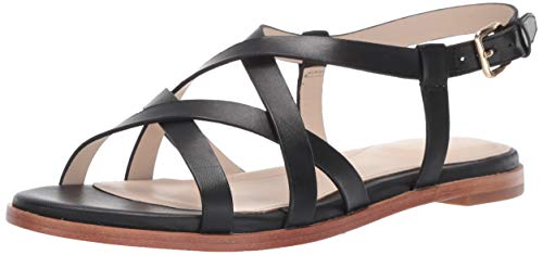 Cole Haan Women's Analeigh Grand Strappy Sandal, Black Leather, 8 B US (Haan Black Sandals Cole)