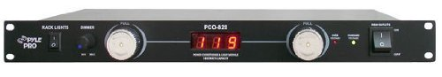 Pyle 19in Rack - Pyle-Pro PCO820 19'' Rack Mount 8 Outlets 1800 Watt Power Conditioner W/Voltage Meter