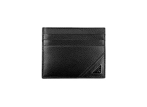 Prada Micro-grain Leather Card Case Holder, Nero (Black) 2MC223