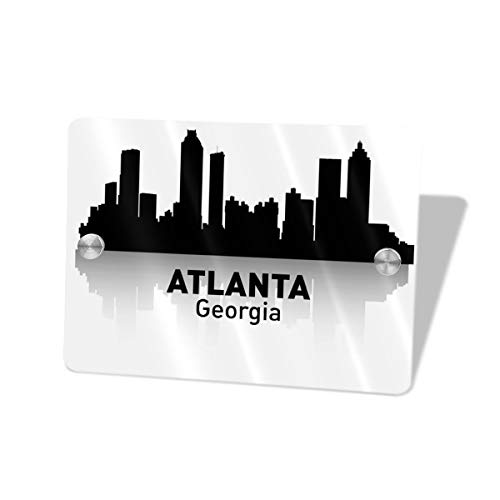 - Bomini Sign for Front Door Signs Atlanta Georgia Address Wall Plaque Welcome Hello Rectangle House for Bathroom Outdoor Decorative