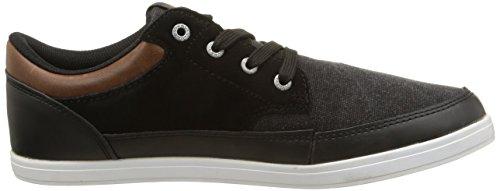 JACK & JONES JJ BRAD CORE 12074613 - Zapatillas de lona para hombre Varios colores (Mehrfarbig (Black))