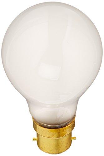 - Satco S5031 60 Watt 630 Lumens A19 Incandescent Euro DC Bayonet Base Light Bulb, Frosted