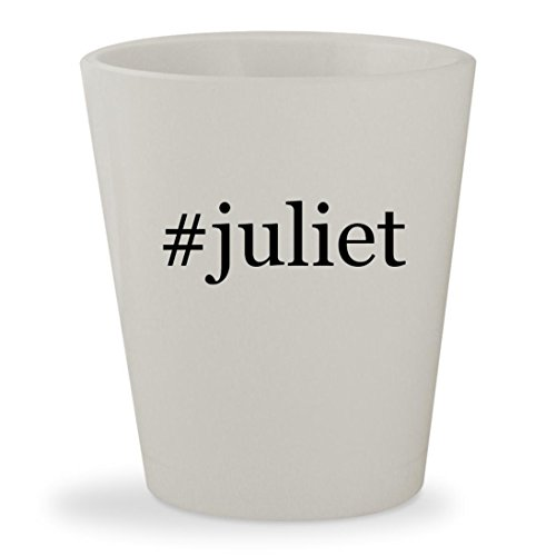 #juliet - White Hashtag Ceramic 1.5oz Shot Glass