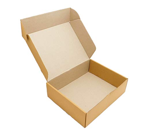 BALLERINA'S Self Locking E-Flute Corrugated Box, Pack Of 25, 10.5 X 8.5 X 3 Inch, Brown Price & Reviews