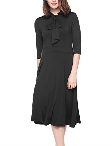 Pleated Bow Front Dress - 8