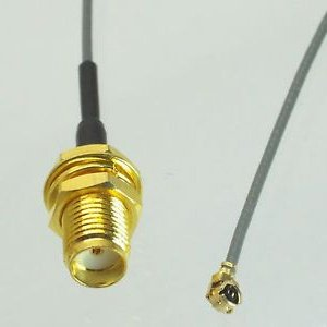 2pcs IPEX U.fl/IPEX to SMA Female (hole) Pigtail 15cm for Mini PCIe Wifi MHF1 MHFI (Hirose U.FL 0.81mm)