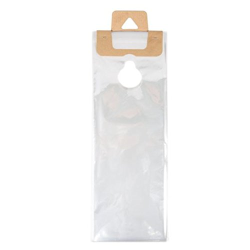 (ClearBags 6 x 12 Door Hanger Bags (100 Bags) for Door Knob Flyers Promotions Coupons | Clear Plastic Poly Hanging Bags for Mail | Newspaper Bags with Hangers Protect Against Rain, Dirt, Bugs | DK6A)