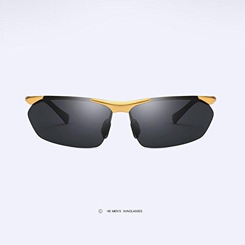 Sol amp;HA Deportivas Gafas Black Gafas Gafas Conduciendo Sin Polarizadas Sol Gafas Bordes MG De HD Al para Z Conductor Gold Antideslumbrante Hombre De 7wadgq7R