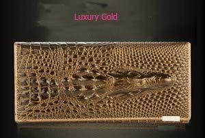 3D Embossing Alligator Fashion Crocodile Long Clutch Wallets men Double zipper