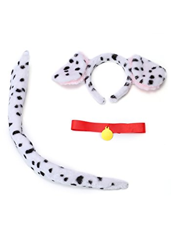 Fun Costumes Adult Unisex Deluxe Dalmatian Dog Accessory Kit Standard White for $<!--$19.99-->