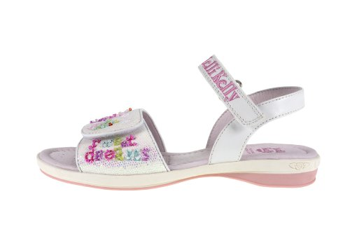 Kelly Glitter Girl's Sandals Lelli White Lk4470 gdwqgCR