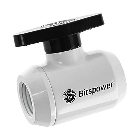 Bitspower G1//4 Mini Valve with Black Handle Black Sparkle Body