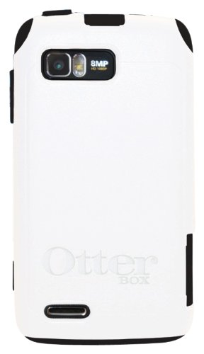 OtterBox Commuter Series Case for Motorola Atrix 2 - Retail Packaging - Black/White (Discontinued by Manufacturer)