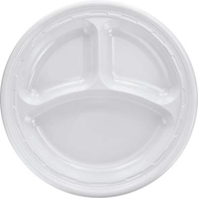 DCC10CPWF - Famous Service Dinnerware, 3-Compartment Plate, 10 1/4quot, White ()