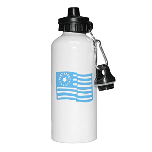 - Style In Print Light Blue Old Glory American Flag Aluminun White Water Bottle