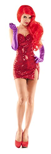 Party King Women's Toon Hottie Sexy Costume Dress Set, Red, Small]()