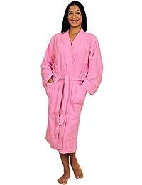 47dab7832f NDK New York Women s and Men s Terry Cloth Kimono Bath Robe Unisex 100%  Cotton