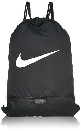 Cinch Sack Backpack (Nike Brasilia Training Gymsack, Drawstring Backpack with Zipper Pocket and Reinforced Bottom,)