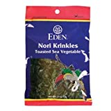 Eden Foods Toasted Nori Krinkle - Japanese Traditional Sea Vegetable, 0.53 Ounce - 6 per case.
