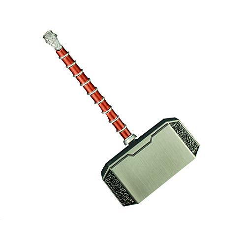 B&T Norse Mythology Aluminum Thor Mjolnir Solid Hammer Aluminum Alloy Model, Gift Box Packaging (Copper)]()