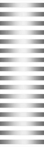 Modern Decor 3D Decorative Film Privacy Window Film No Glue,Frosted Film Decorative,Horizontal Zebra like Striped Motif with Classical Minimalist Effects Display,for Home&Office,23.6x59Inch Grey White