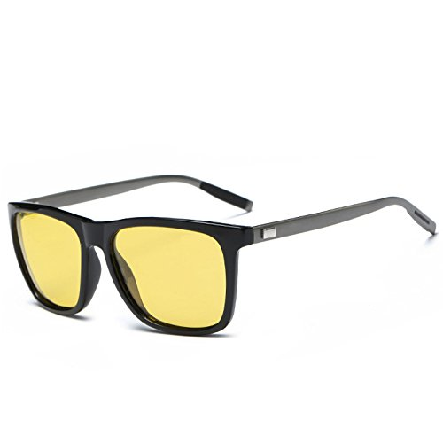 polarizadas Guía Visión Gafas gafas que reflexiones Abbagliamento negro para Lente Anti gafas conducen amarilla reducir vehículos TIANLIANG04 de hombres black Profesional Nocturna wI8zqYE
