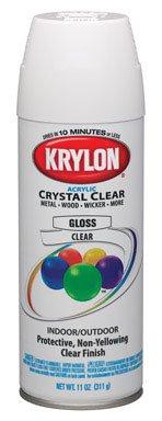 Krylon K05130100 Decorator Crystal Clear Gloss Finish Spray Paint (Pack of 6)