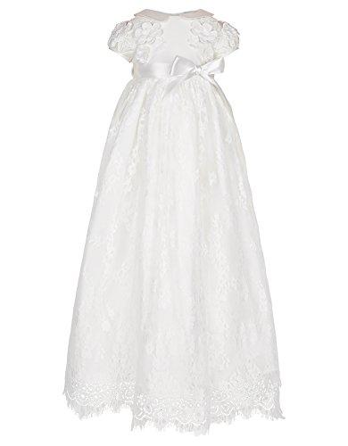 Monsoon Baby Provenza Silk Christening Gown - Baby-Girls - 3-6 Months