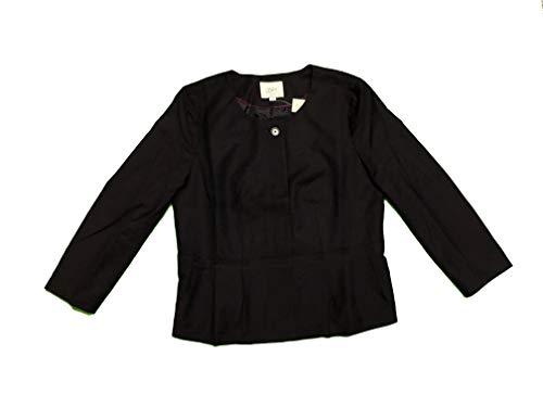 Ann Taylor LOFT Women's Blazer Peplum Lined Jacket 14P 14 Petite Plum Purple ()