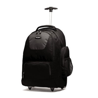 BACKPACK WHEELED NYLON BLK 3YR WTY
