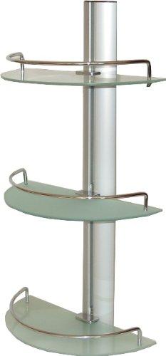 Badregal Wandregal Regal für Bad aus Aluminium mit 3 Glasablagen