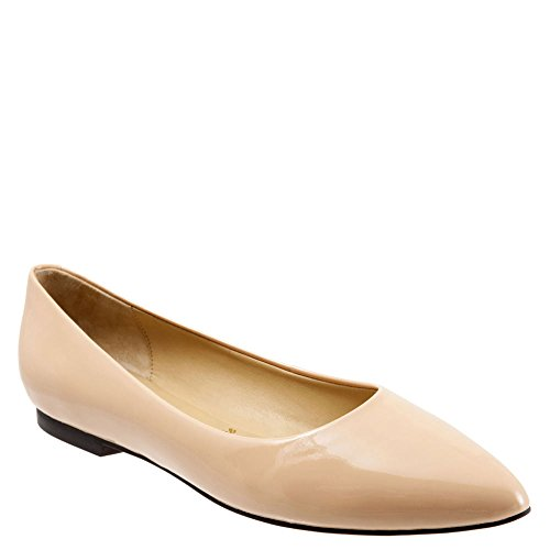 Trotters Women's Estee,Nude Soft Patent Leather,US 9.5 N