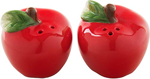 Ceramic Red Apple - Red Apple Shaped Ceramic Salt & Pepper Shakers - Set-/2-4