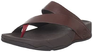FitFlop Men's Sling M Leather Thong Sandal,Navajo Brown,13 M US