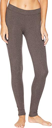 Pact Women's Organic Cotton Long Leggings Charcoal Heather Small 25.5 ()