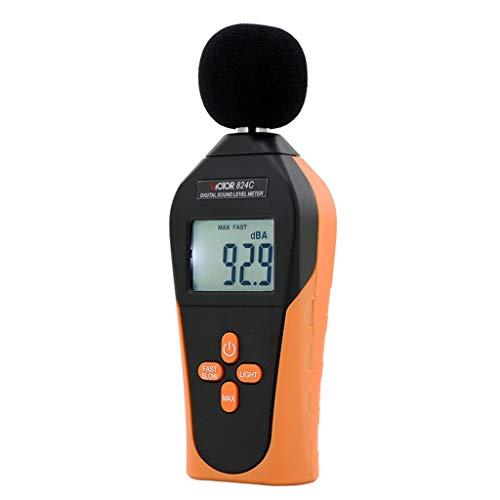 Xxw lamp ABS Thick Shell LCD Display Digital Mini Noise Meter Sound Level Meter Decibel Meter Noise Volume Tester 9V Battery