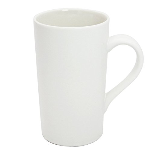 Momugs 16 OZ Plain Large Tall White Ceramic Milk Tea Coffee Mug with Handle as A Gift for Dad Mom (Plain Coffee Mug)