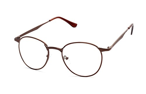 Caixia Unisex JTS3089 Super-thin Metal Frame Classic Round 50mm Eyeglasses - Cat Eye Thin