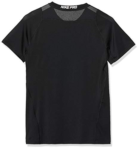 Nike Pro Boy's Compression T Shirt Small Polyester Black 2