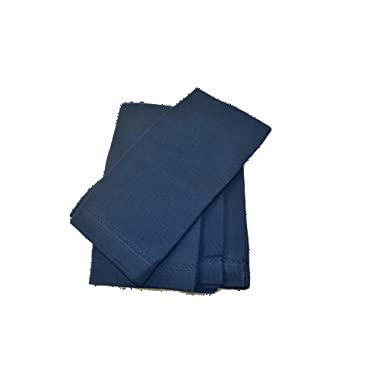 Hemstitch Dinner Napkins Navy 1 Dozen
