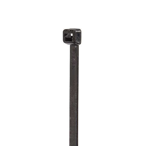 Standard Duty UV and Weather Resistant Cable Tie, 50lbs Tensile Strength, 2-1/8'' Bundle Diameter, 0.187'' Width, 8'' Length, Black (Pack of 1000) by NSI