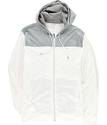Calvin Klein Mens L/S Interlock Hoodie Sweatshirt