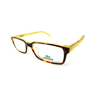 Lacoste Rx Prescription Eyeglasses Spring Temples - L2614-214 (Havana/Yellow)