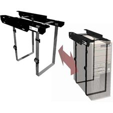 Penn Elcom CPU-57BN Under-Desk Mount Computer Holder with Slide-Out Access for Office, School and Home