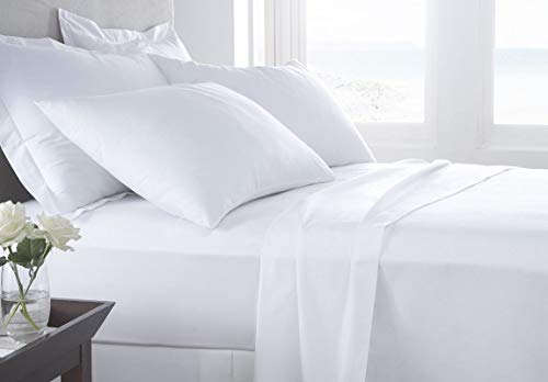 Kotton Culture 4 Piece Sheet Set Premium 1000 Thread Count 100% Egyptian Cotton 15 Inch Deep Solid Luxurious Hotel Class Bedding Super Soft (Queen, White)
