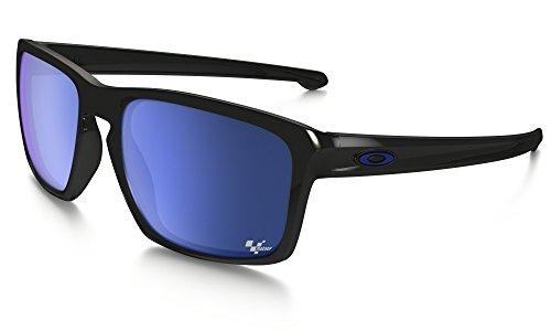 Oakley Sliver Sunglasses Moto GP Polished BLK / Ice Irid. & Cleaning Kit - Oakley Moto