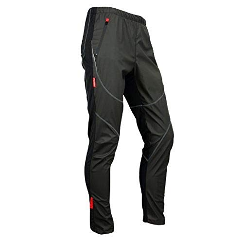 Santic Men's Cycling Pants Winter Composite Windproof Pants Trousers Black CN XL,US L (Best Waterproof Mountain Bike Trousers)