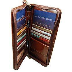 Zip Around Family Passport Travel Wallet Credit Cards Business by Castello (Image #2)
