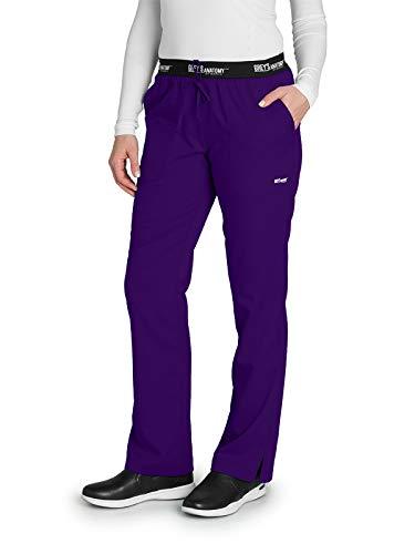 Grey's Anatomy Active 4275 Women's 3 Pocket Logo Waist Scrub Pant Vivid Violet S